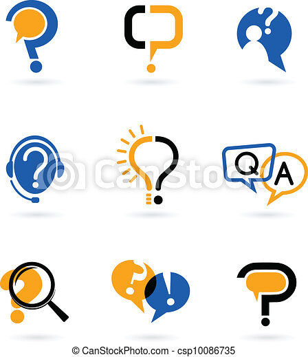 set of question mark icons - csp10086735