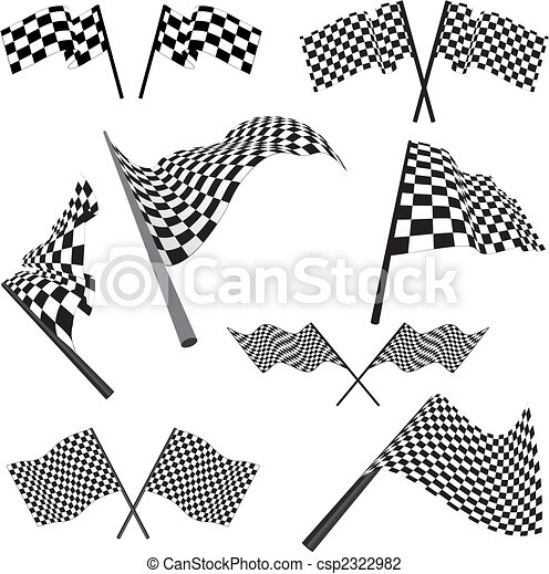 set of racing flags - csp2322982