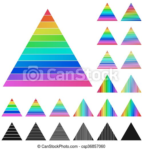 set of rainbow pyramid logo icons set of rainbow pyramid clip rh canstockphoto com pyramid clipart free pyramid clip art free