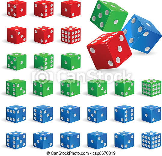 Set of realistic dice - csp8670319