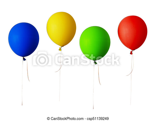 Set of red, blue, green and yellow balloons - csp51139249