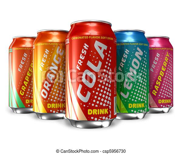 Set of refreshing soda drinks - csp5956730