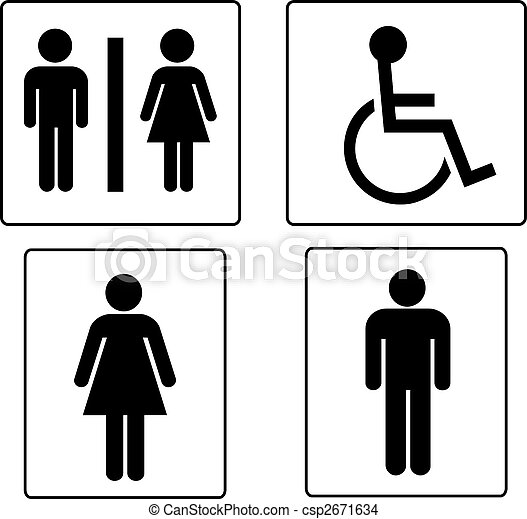 set of restroom symbols - csp2671634