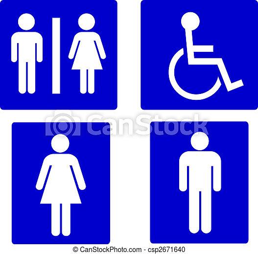 set of restroom symbols - csp2671640