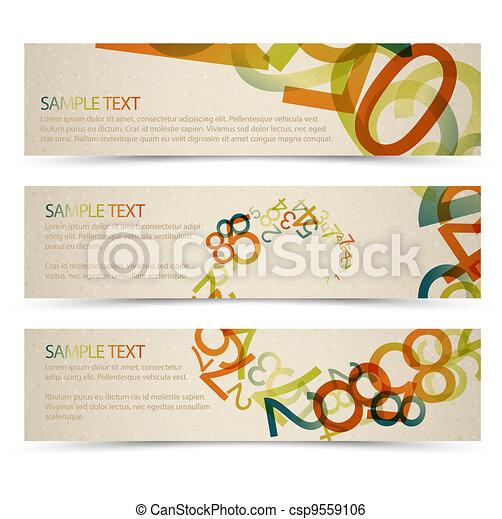 Set of retro horizontal banners - csp9559106