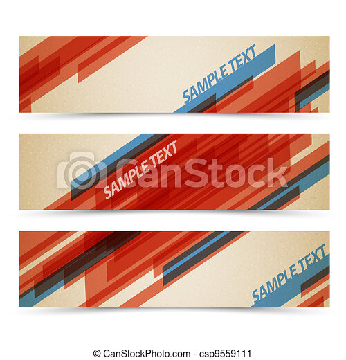 Set of retro horizontal banners - csp9559111