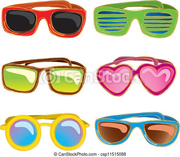 Set of retro sunglasses - csp11515088