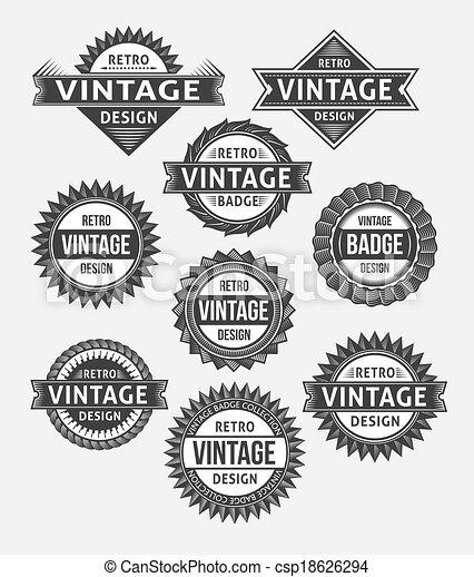 Set of retro vintage badges - csp18626294