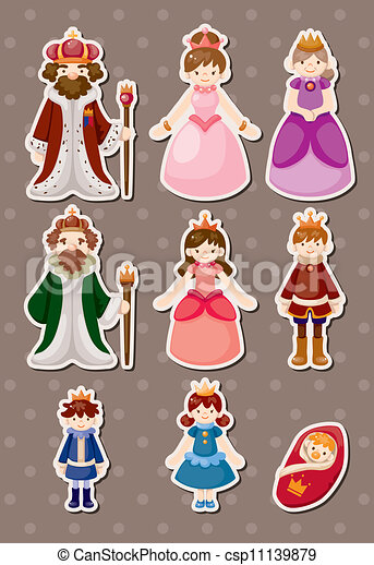 set of Royal people syickers - csp11139879