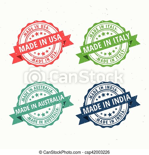 e89937554e Set of rubber stamps for made in usa