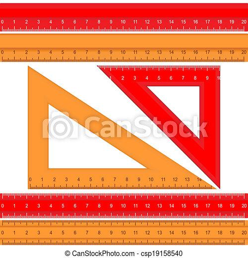 Set of rulers - csp19158540