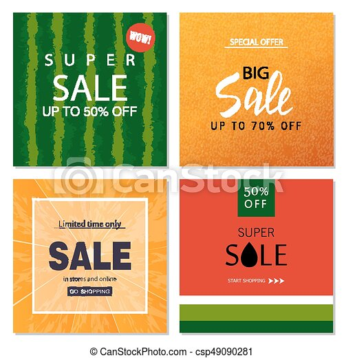 Set of sale banner templates vector illustrations for website and set of sale banner templates vector illustrations for website and mobile website banners posters maxwellsz