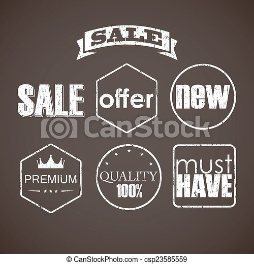 set of sale labels  - csp23585559