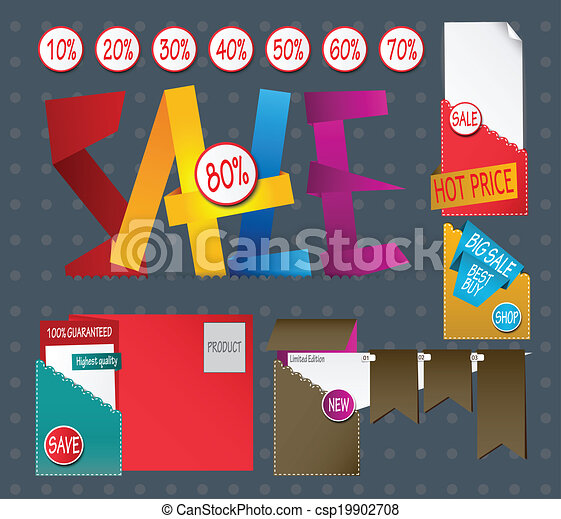 Set of sale labels  - csp19902708