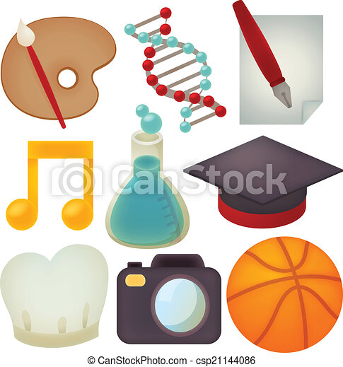 Set of school icons - csp21144086