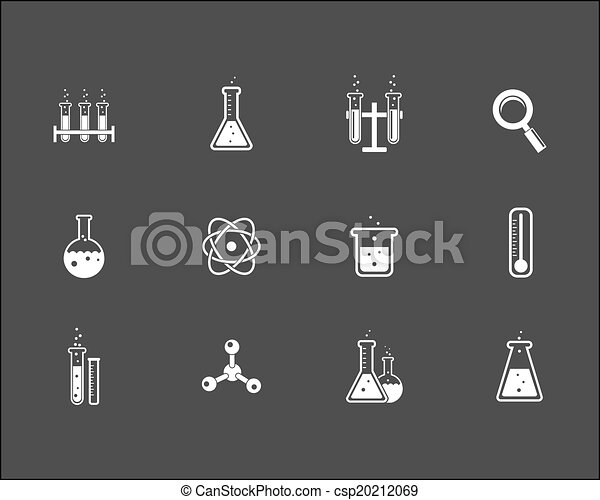 Set of science and research icons - csp20212069
