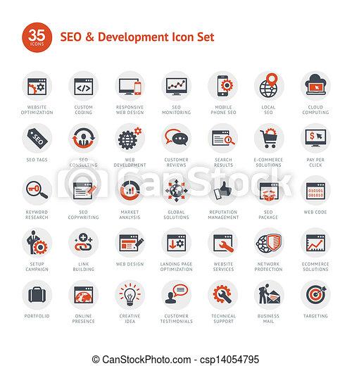 Set of SEO and Development icons - csp14054795