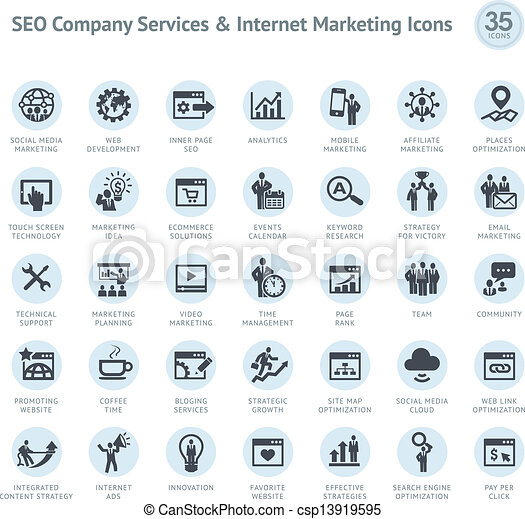Set of SEO and Marketing icons - csp13919595