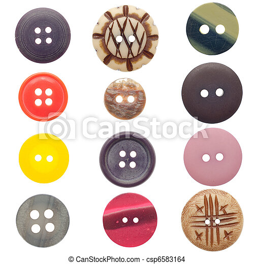 Set of sewing buttons - csp6583164