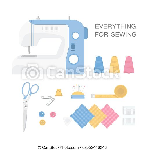 Set of sewing tools. - csp52446248