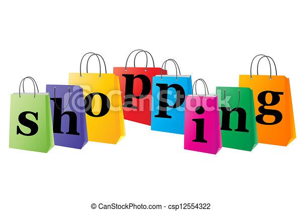 Set of shopping bags  - csp12554322