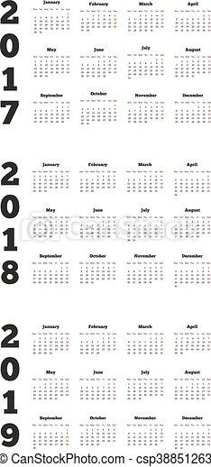 simple calendars