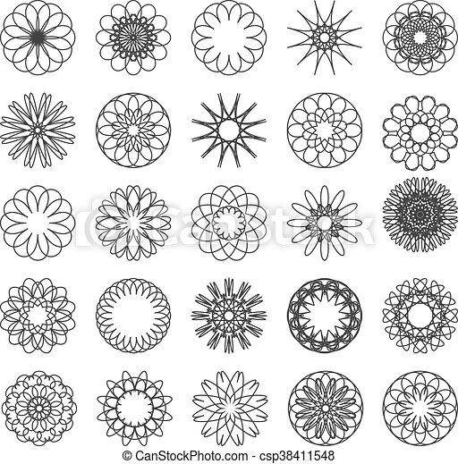 Set of simple mandalas