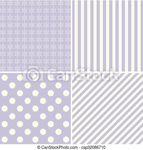 Set of simple retro Christmas patterns - csp32086710