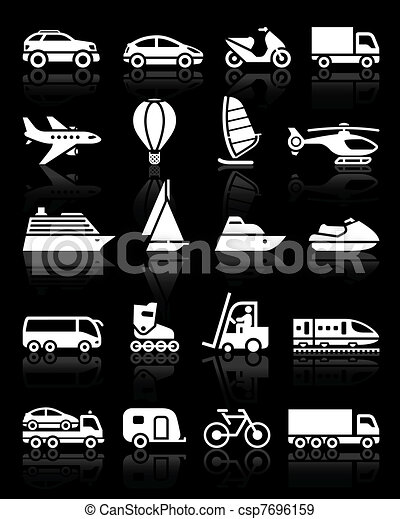 Set of simple transport icons  - csp7696159
