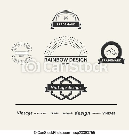 Set of simple vector elements for design - csp23393755