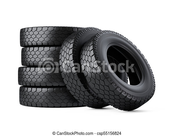 Big Truck Tires >> Set Of Six Big Vehicle Truck Tires Stacked New Car Wheels