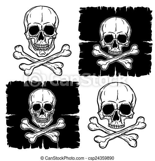 Set of Skull and Crossbones - csp24359890