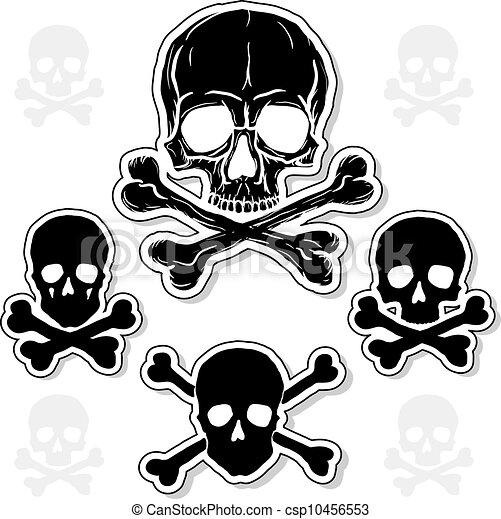 Set of Skulls with Crossbones - csp10456553