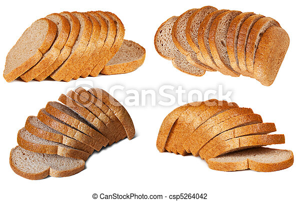 Set of sliced bread - csp5264042