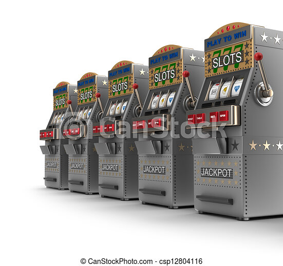 Set of slot machines - csp12804116