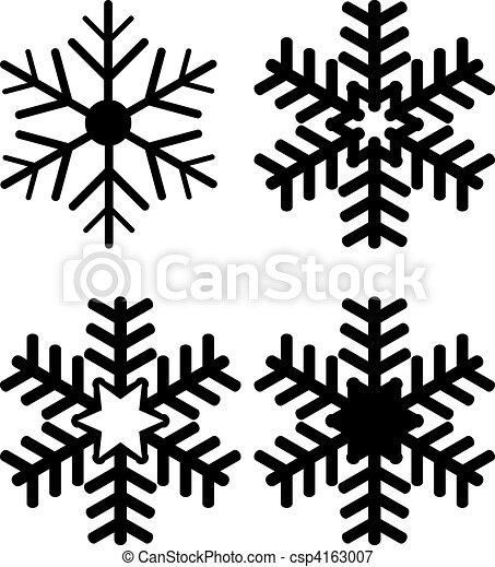 Set of Snowflake Silhouettes - csp4163007