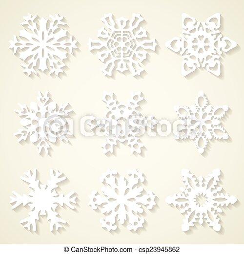 Set of snowflakes - csp23945862