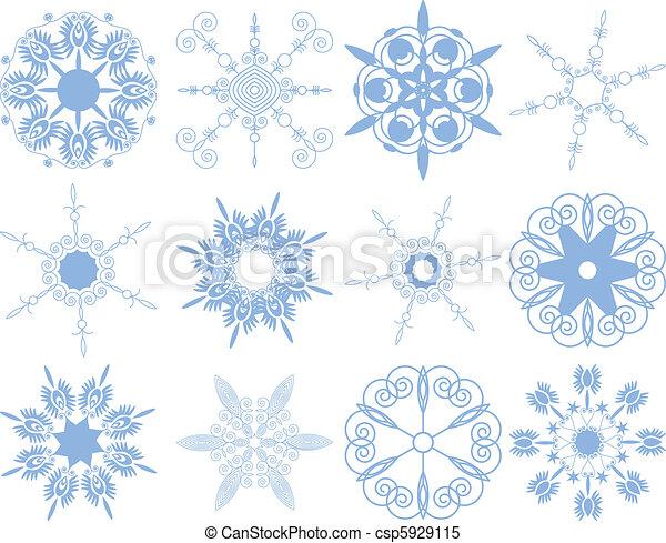 Set of snowflakes - csp5929115