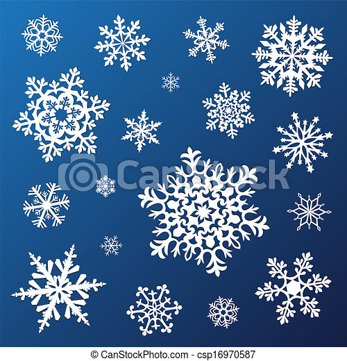 Set of snowflakes - csp16970587