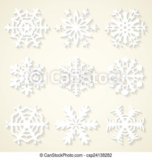 Set of snowflakes - csp24138282