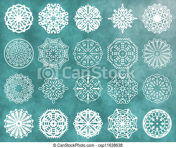 Set of snowflakes - csp11638638