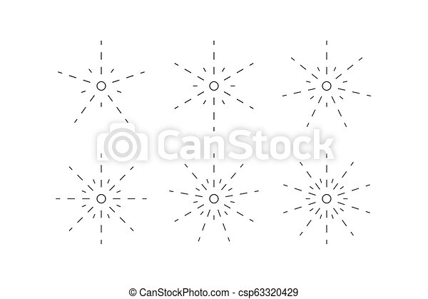 Set of snowflakes from dashed lines - csp63320429