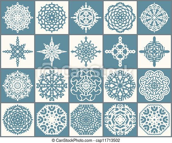 Set of snowflakes - csp11713502