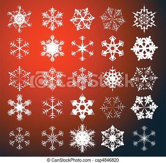 Set of snowflakes - csp4846820