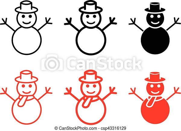 Set Of Snowman Icons And Symbol Vector Design