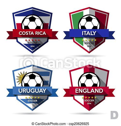 Set of soccer ( football ) badge - csp20626925