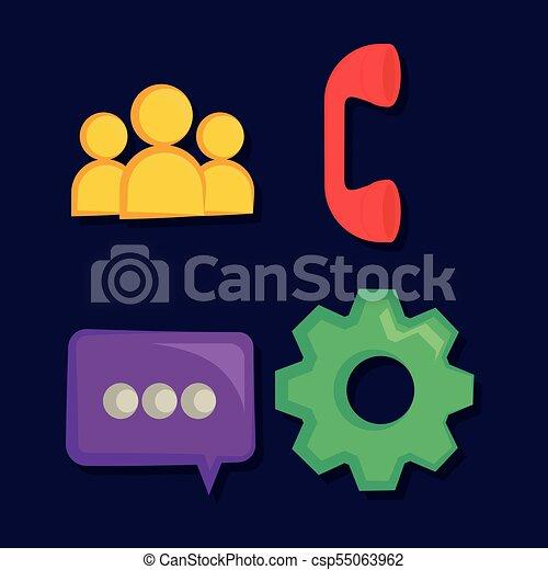 set of social media icons - csp55063962