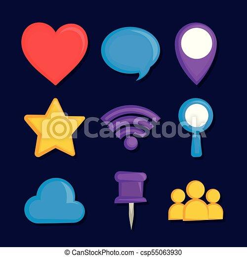 set of social media icons - csp55063930