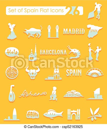 Set of Spain icons - csp52163925