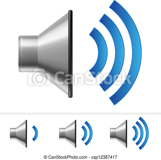 Set of speaker icons - csp12387417